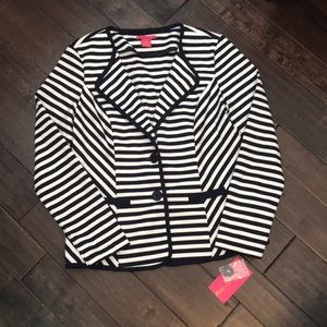 Sunny Leigh Navy/White stripped blazer